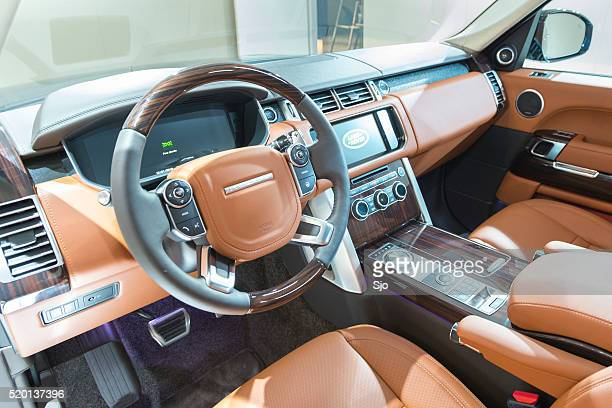 Range Rover offroad SUV car luxurious  interior