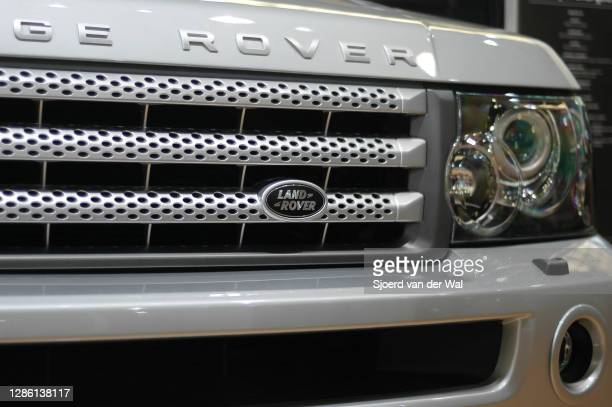 Range Rover Sport luxury SUV car headlight on display at Amsterdam motor show AutoRAI on February 19, 2005 in Amsterdam, The Netherlands.