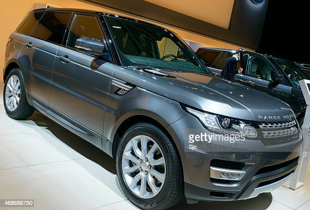 range rover sport luxury suv front view - range rover stock pictures, royalty-free photos & images