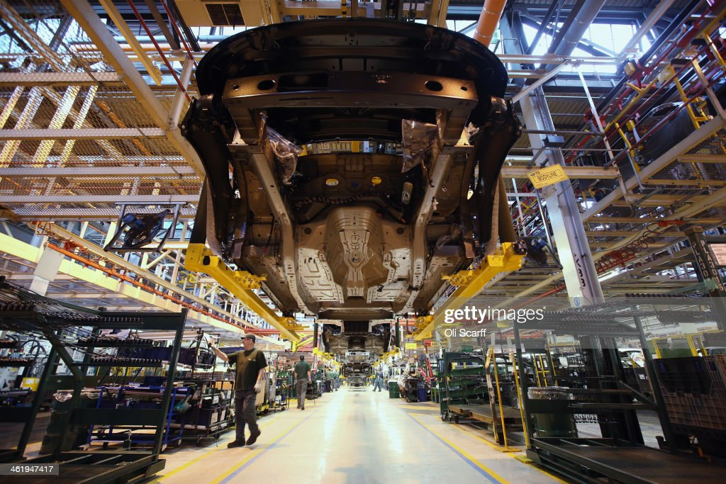 Range Rovers and Land Rovers are built on the production line at the Jaguar Land Rover factory on January 10, 2014 in Solihull, England. The luxury vehicle manufacturer has invested around 1.5 billion GBP in its Solihull plant, which has been the home of Land Rover for 60 years, and has created 1,700 new jobs. Figures from the motor industry have recorded 2.26 million vehicle registrations in 2013, a rise of 10.8% from 2012 and the highest annual car sales since 2007.