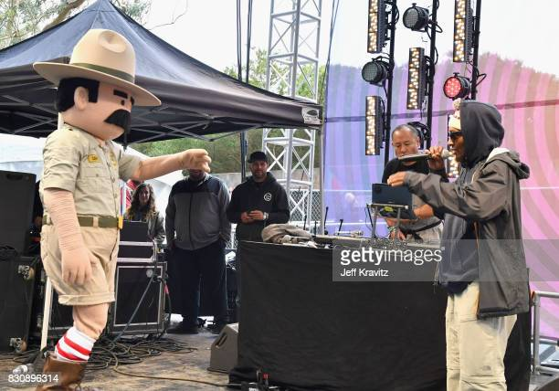 Ranger Dave Dan the Automator and Del the Funky Homosapien onstage during KIMCHI 3030 with Roy Dan and Del on the Gastro Magic stage at the 2017...