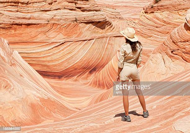 Ranger overlooking the Wave, Coyote Buttes