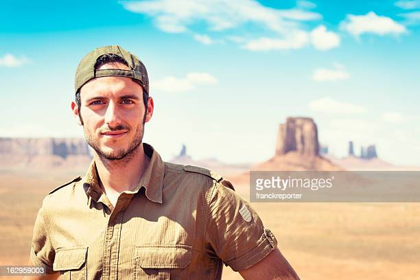 Ranger smiling on the Tribal National Park - Monument valley