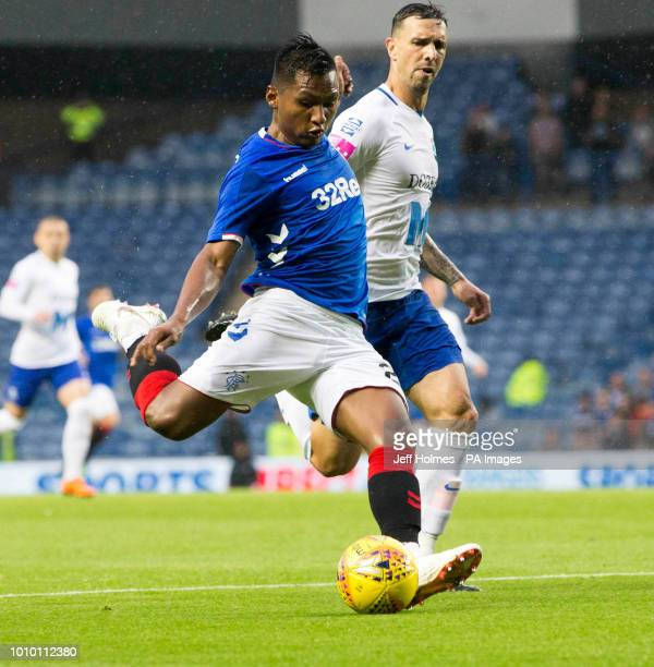Rangers Alfredo Morelos during the UEFA Europa League Second Qualifying Round Second Leg match at Ibrox Glasgow
