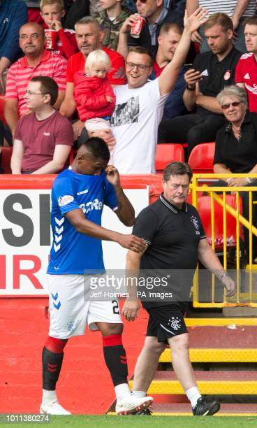 Rangers Alfredo Morelos is sent off during the Scottish Ladbrokes Premiership match at Pittodrie Stadium Aberdeen