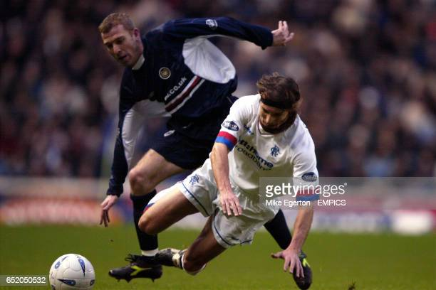 Rangers' Claudio Caniggia is tackled by Dundee's Gary Brady