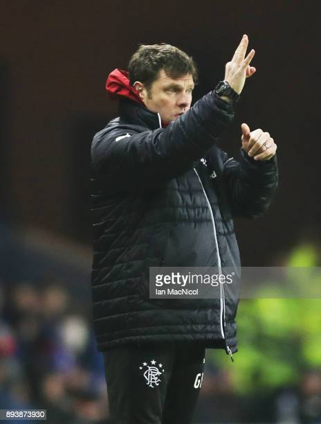 Rangers interim manager Graeme Murty is seen during the Ladbrokes Scottish Premiership match between Rangers and St Johnstone at Ibrox Stadium on...
