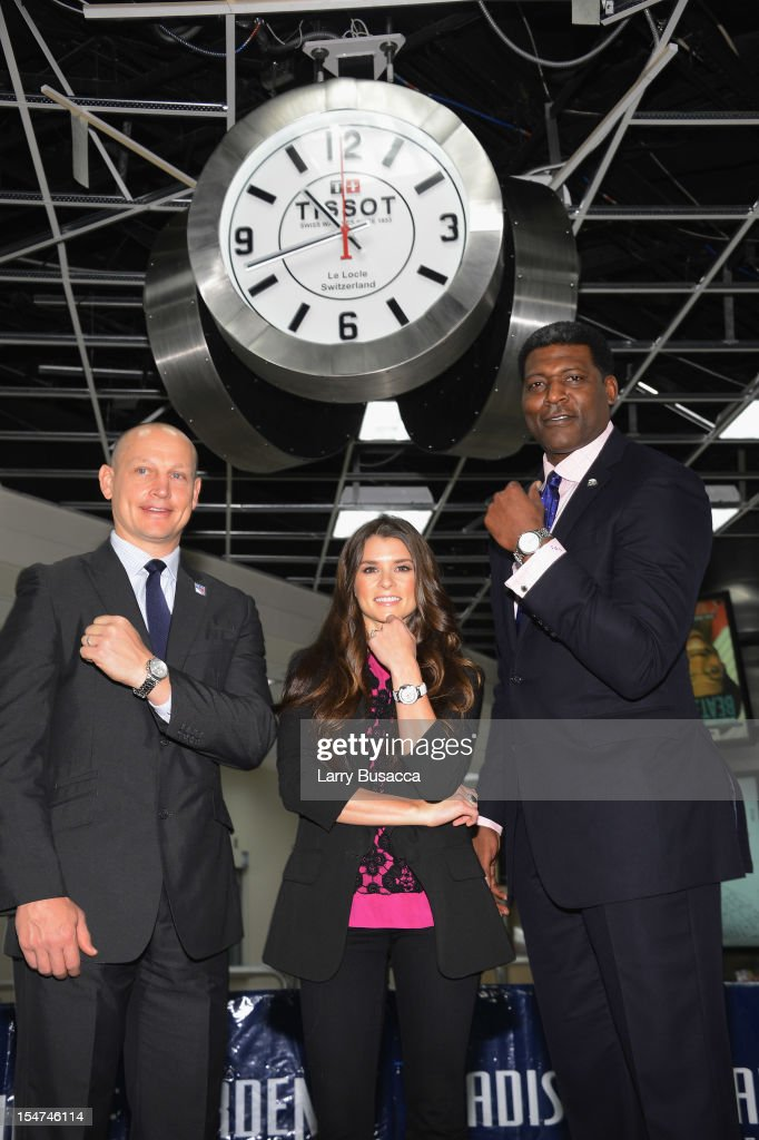 NASCAR Star Danica Patrick, Knicks Great Larry Johnson And Rangers Legend Adam Graves Join Tissot Swiss Watches To Unveil The Brand's New Lobby Clocks At Madison Square Garden
