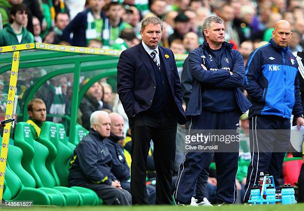 Rangers manager Ally McCoist during the Clydesdale Bank Premier League match between Celtic and Rangers at Celtic Park on April 29 2012 in Glasgow...