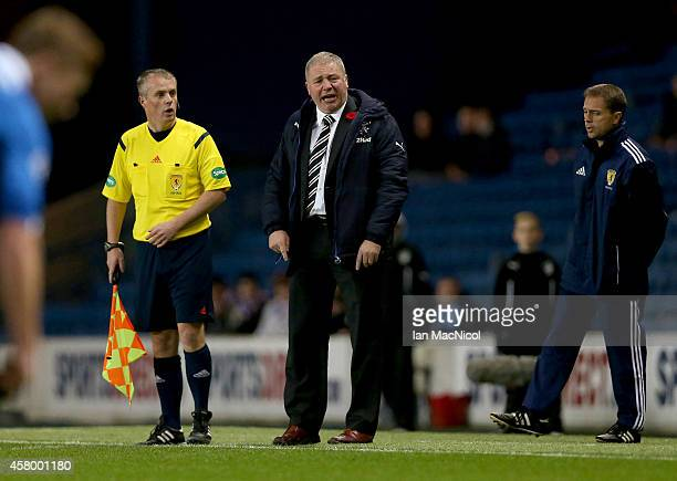 Rangers manager Ally McCoist reacts during the Scottish League Cup Quarter final between Rangers and St Johnstoneat Ibrox Stadium on October 28 2014...
