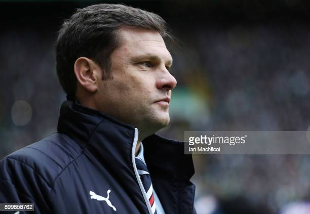 Rangers manager Graeme Murty during the Scottish Premier League match between Celtic and Ranger at Celtic Park on December 30 2017 in Glasgow Scotland