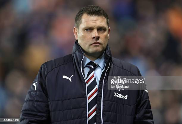 Rangers manager Graeme Murty is seen during the Ladbrokes Scottish Premiership match between Rangers and Aberdeen at Ibrox Stadium on January 24 2018...