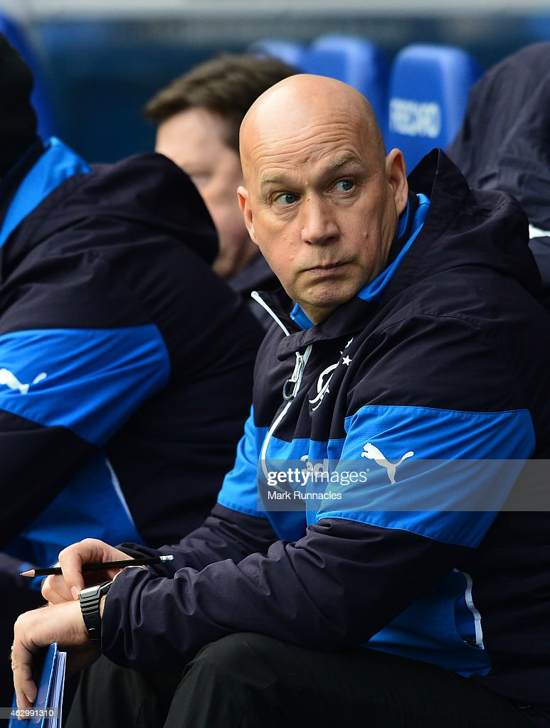 Rangers manager Kenny McDowall watches on from the side line during the William Hill Scottish Cup Fifth Round match between Rangers and Raith Rovers on February 8, 2015 in Glasgow Scotland.