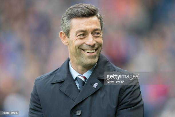 Rangers Manager Pedro Caixinha during the UEFA Europa League first qualifying round match between Rangers and Progres Niederkorn at the Ibrox Stadium...
