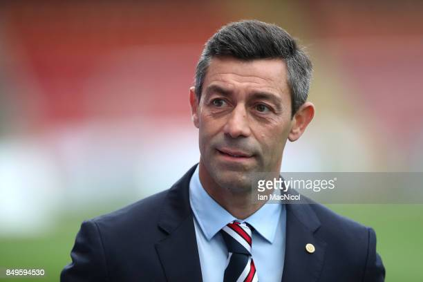Rangers manager Pedro Caixinha is seen prior to the Betfred League Cup Quarter Final at Firhill Stadium on September 19 2017 in Glasgow Scotland