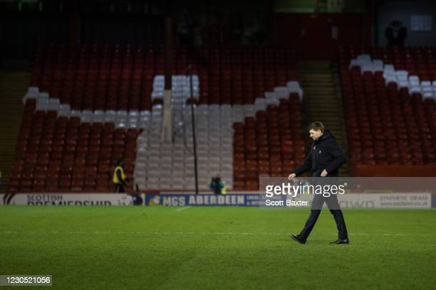 Rangers manager Steven Gerrard during the Ladbrokes Scottish Premiership match between Aberdeen and Rangers at Pittodrie Stadium on January 10, 2021...