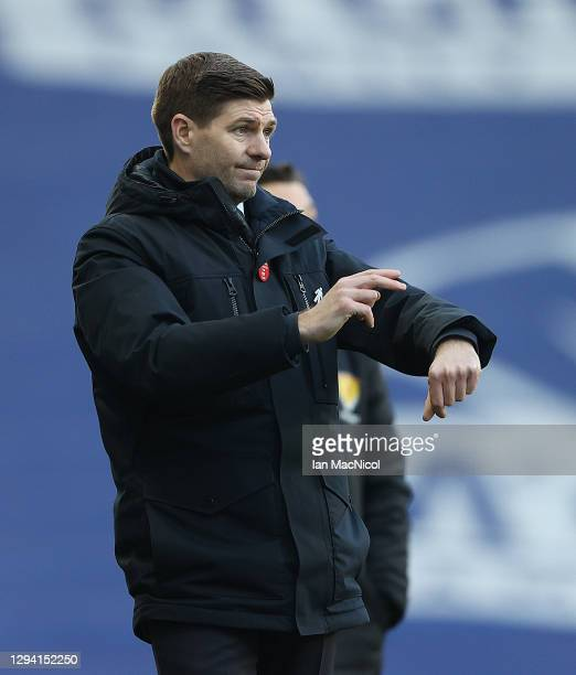 Rangers Manager Steven Gerrard is seen during the Ladbrokes Scottish Premiership match between Rangers and Celtic at Ibrox Stadium on January 02,...