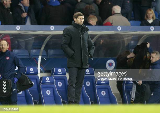 Rangers' manager Steven Gerrard looks on after victory against Hamilton Academical in a Ladbrokes Scottish Premiership match at Ibrox Stadium Glasgow