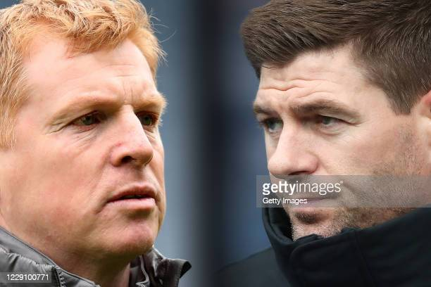 COMPOSITE OF IMAGES Image numbers 1142607800 1125241854 GRADIENT ADDED In this composite image a comparison has been made between Neil Lennon the...