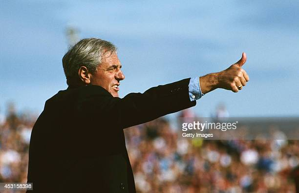 Rangers manager Walter Smith reacts during a Scottish Premier League match in September 1993 in Scotland