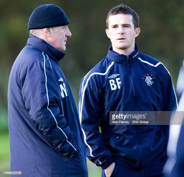 Rangers manager Walter Smith with his skipper Barry Ferguson