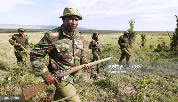 Rangers patrol for poachers at Maasai Mara National Reserve in Kenya on Dec. 2, 2016. ==Kyodo