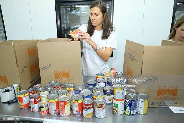 Rangers player's wife Johanna Bialous attends 2016 Henrik Lundqvist Foundation Food Bank For New York City Repack Day Challenge at Food Bank for New...