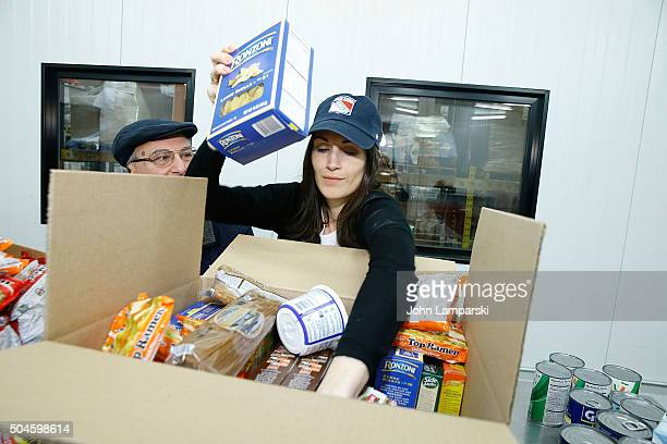 Rangers players wife Kristen Lindell attends 2016 Henrik Lundqvist Foundation Food Bank For New York City Repack Day Challenge at Food Bank for New...