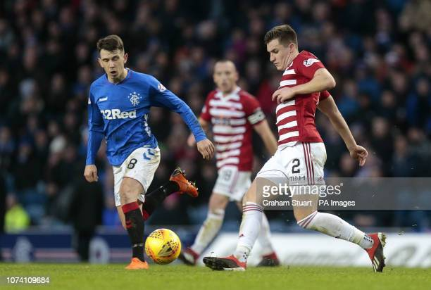 Rangers' Ryan Jack vies with Hamilton Academical's Aaron McGowan during the Ladbrokes Scottish Premiership match at Ibrox Stadium Glasgow