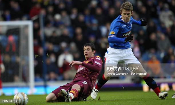 Rangers' Steven Davis and Motherwell's Robert McHugh during the Clydesdale Bank Scottish Premier League match at Ibrox Glasgow