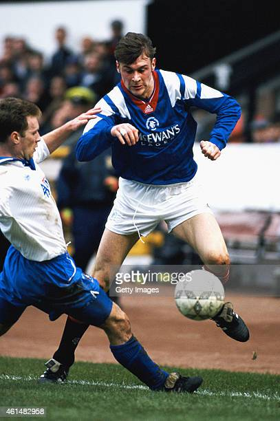 Rangers striker Duncan Ferguson in action during a Scottish League match circa 1994 in Glasgow Scotland