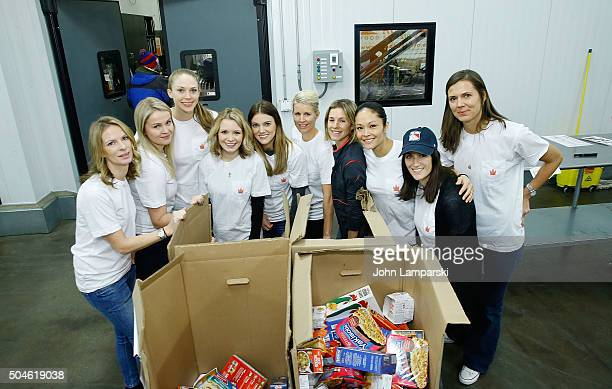 Rangers wives and girlfriends Therese Lundqvist Jessica Nash Danette Shearer Mary Hirst Anna Raanta Melissa Courcelles and Kaylee McDonaugh attend...