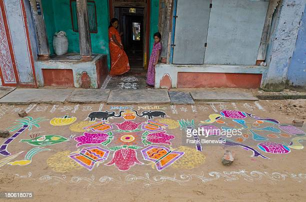 Rangoli are decorative sand designs made on floors of living rooms and courtyards during Hindu festivals and are meant as sacred welcoming areas for...