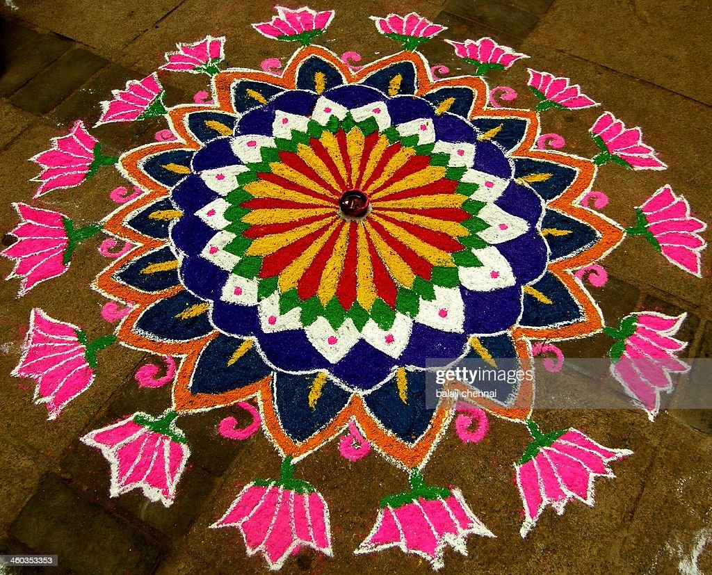 Rangoli - Colour Art : Stock Photo