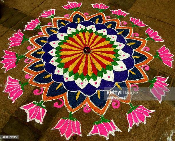 rangoli - colour art - rangoli stock pictures, royalty-free photos & images
