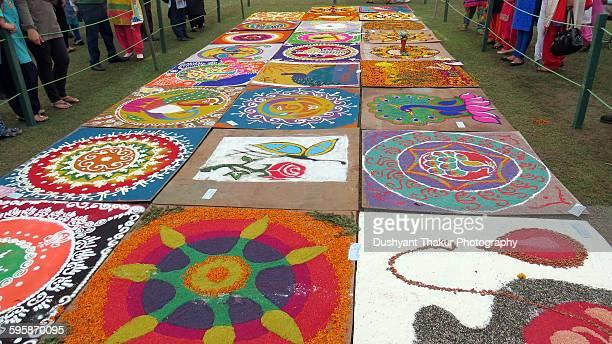 Rangoli designs on display