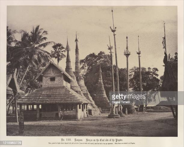 Henzas on the East Side of the Shwe Dagon Pagoda. November 1855. Albumen silver print from waxed paper negative. Image: 26.1 x 34.3 cm . Photographs....