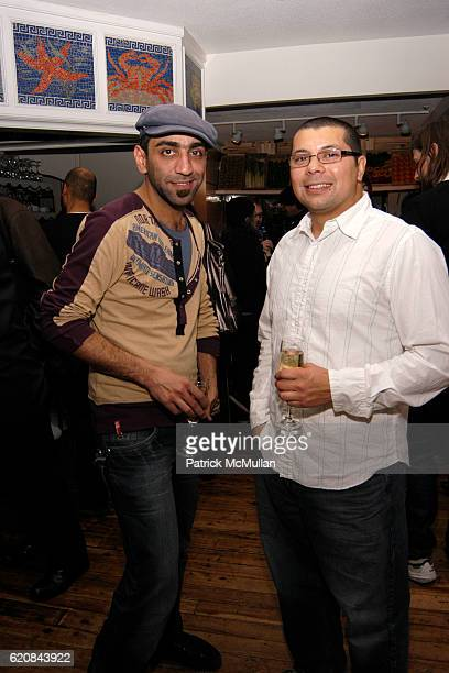 Rani Farah and Ruben Ochoa attend Whitney Biennial Artists Party at Trata Estiatoria on March 8 2008 in New York City