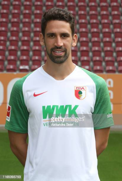 Rani Khedira of FC Augsburg poses during the team presentation at WWK-Arena on July 31, 2019 in Augsburg, Germany.