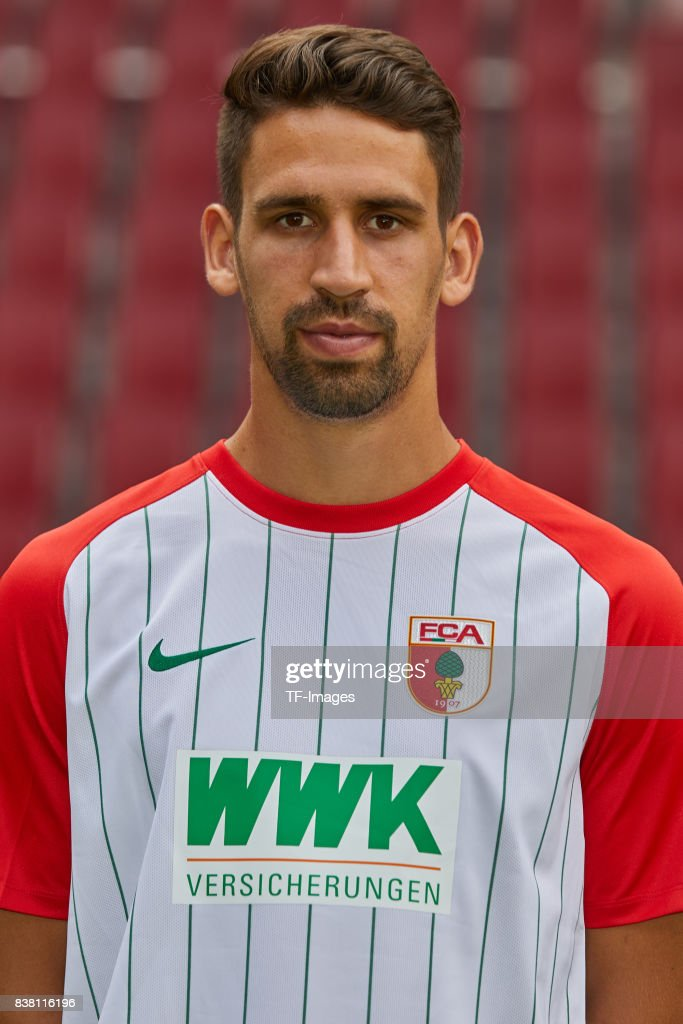 Rani Khedira of FC Augsburg poses during the team presentation at WWK Arena on July 17, 2017 in Augsburg, Germany.
