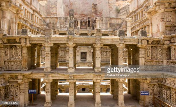 rani ki vav- stepwell - step well stock photos and pictures