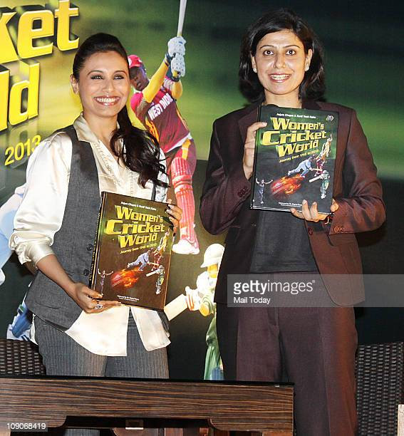 Rani Mukherjee and Anjum Chopra at the launch of book Women`s Cricket World coauthored by former India women cricket team captain Anjum Chopra at JW...