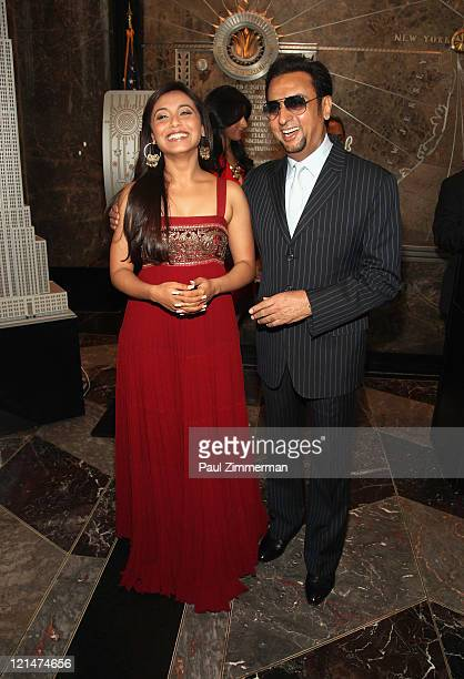 Rani Mukherjee and Gulshan Grover visit the The Empire State Building on August 19 2011 in New York City