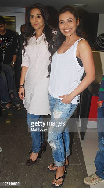 Rani Mukherjee and Vidya Balan at a promotional event of their upcoming film No One Killed Jessica