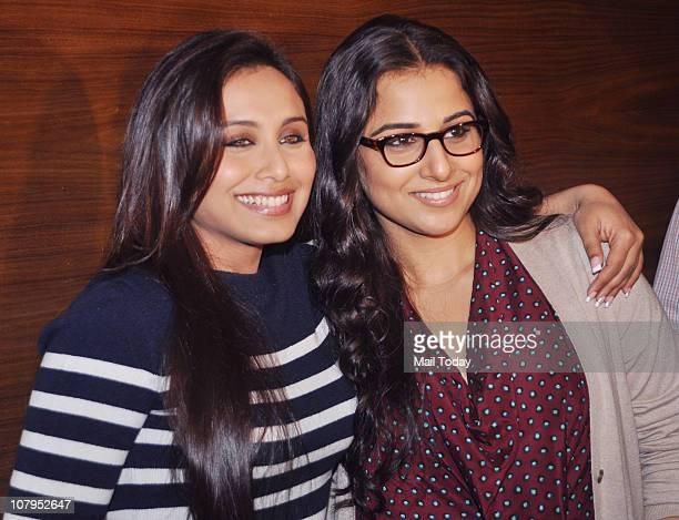 Rani Mukherjee and Vidya Balan at Inorbit mall in Malad to sell tickets of their latest film 'No One Killed Jessica' in Mumbai