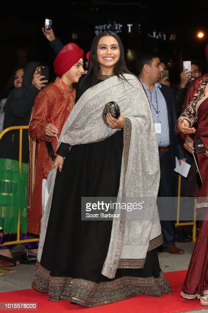 Rani Mukherjee arrives at the Westpac 2018 Indian Film Festival of Melbourne Awards Night 2018 at The Palais Theatre on August 12 2018 in Melbourne...