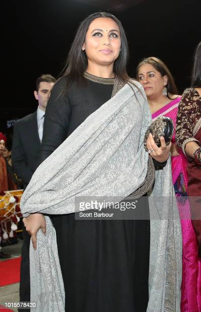 Rani Mukherjee arrives at the Westpac 2018 Indian Film Festival of Melbourne Awards Night 2018 at The Palais Theatre on August 12, 2018 in Melbourne,...