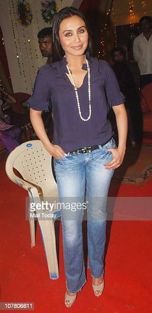 Rani Mukherjee at a promotional event for the film No One Killed Jessica in Mumbai on December 28 2010