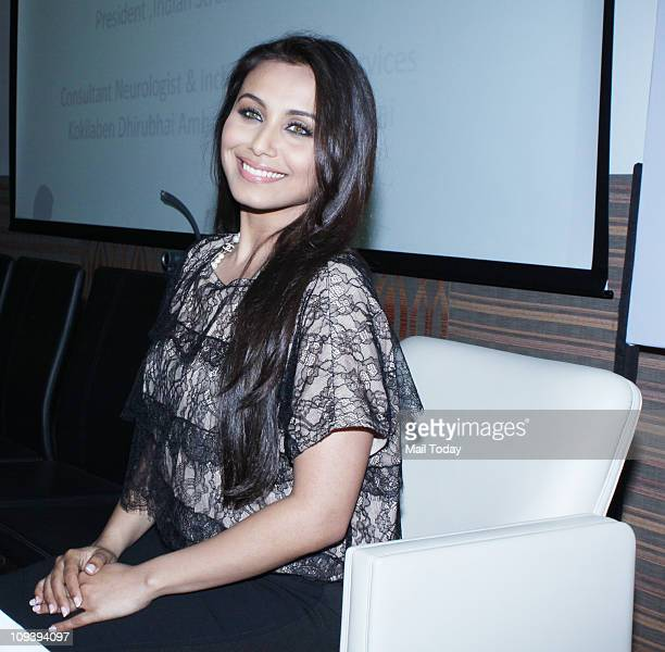 Rani Mukherjee at an event to pledge her support to Indian Stroke association