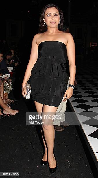Rani Mukherjee at Day II of the HDIL Couture fashion week in Mumbai on October 7 2010